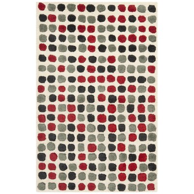Chidi Ivory Wool Rug Rug Size: Rectangle 26 x 4