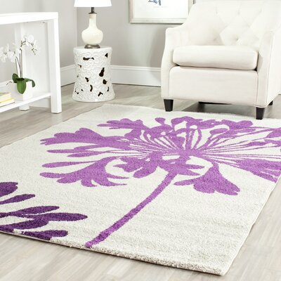 Nanette Cream / Berry Area Rug Rug Size: Rectangle 8 x 112