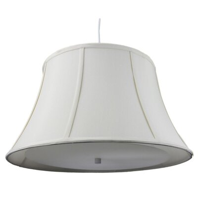 Anthony 2-Light Mini Pendant Shade Color: Egg Shell, Size: 11 H x 19 W x 13 D