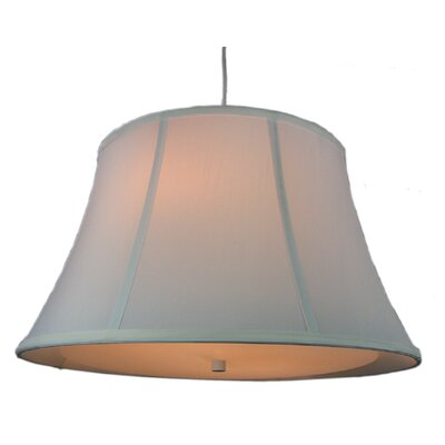 Anthony 2-Light Mini Pendant Shade Color: White, Size: 11 H x 19 W x 13 D