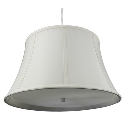 Anthony 2-Light Mini Pendant Shade Color: Egg Shell, Size: 10 H x 17 W x 12 D