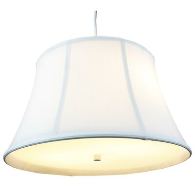 Anthony 2-Light Mini Pendant Shade Color: White, Size: 10 H x 17 W x 12 D