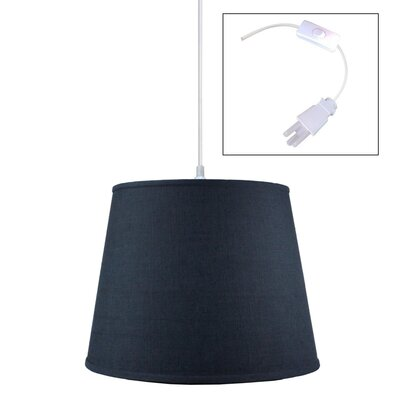 Riverside Handcrafted 1-Light Drum Pendant Shade Color: Slate Blue, Size: 11 H x 16 W x 13 D
