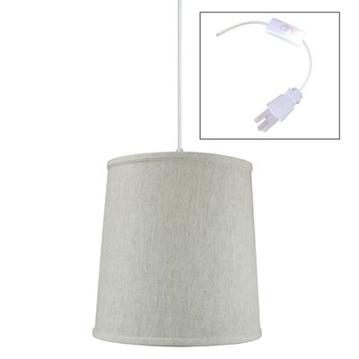 Riverside 1-Light Drum Pendant Shade Color: Oatmeal