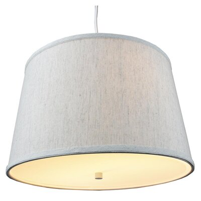 Anthony 2-Light Drum Pendant Shade Color: Oatmeal, Size: 10 H x 16 W x 14 D