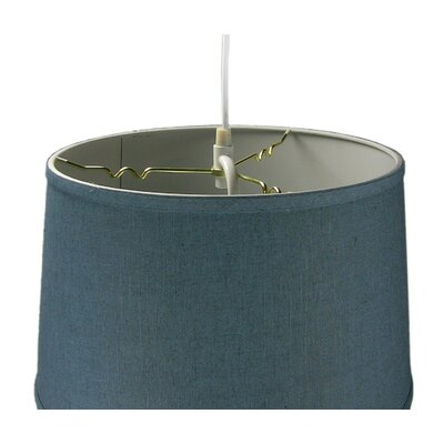Anthony 2-Light Drum Pendant Size: 10 H x 16 W x 14 D, Shade Color: Slate Blue