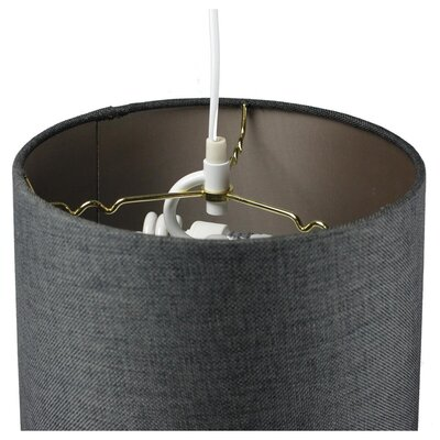 Dov 2-Light Drum Pendant Shade Color: Gray, Size: 10 H x 14 W x 12 D