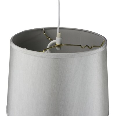Anthony 2-Light Drum Pendant Shade Color: Gray, Size: 11 H x 16 W x 13 D