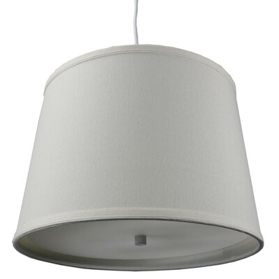 Dov 2-Light Drum Pendant Shade Color: Light Oatmeal, Size: 10 H x 14 W x 12 D