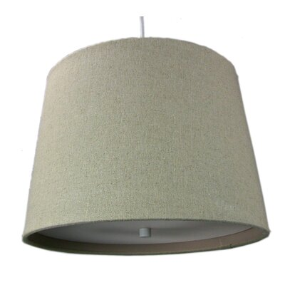 Anthony 2-Light Drum Pendant Size: 10 H x 14 W x 12 D, Shade Color: Sand