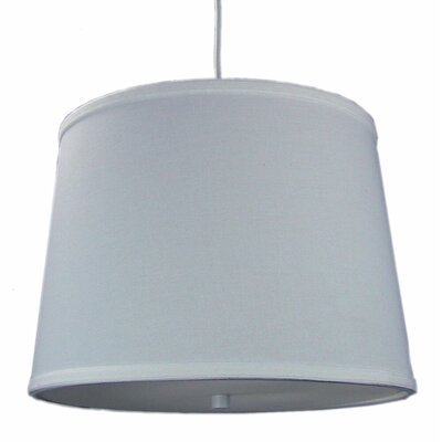 Dov 2-Light Drum Pendant Shade Color: White, Size: 10 H x 14 W x 12 D