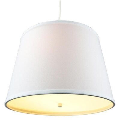 Anthony 2-Light Drum Pendant Shade Color: White, Size: 11 H x 16 W x 13 D