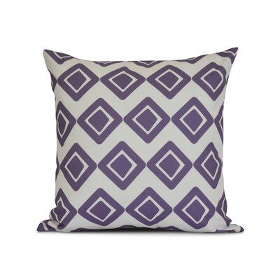 Doretta Geometric Outdoor Throw Pillow Size: 20 H x 20 W x 3 D, Color: Purple