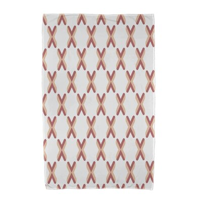 Upscale Getaway Criss Cross Beach Towel Color: Orange