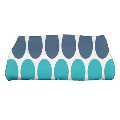 Picks Bath Towel Color: Aqua/Navy Blue