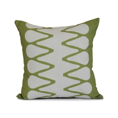 Upscale Getaway Outdoor Throw Pillow Size: 16 H x 16 W x 3 D, Color: Green