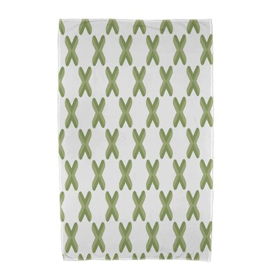 Upscale Getaway Criss Cross Beach Towel Color: Green