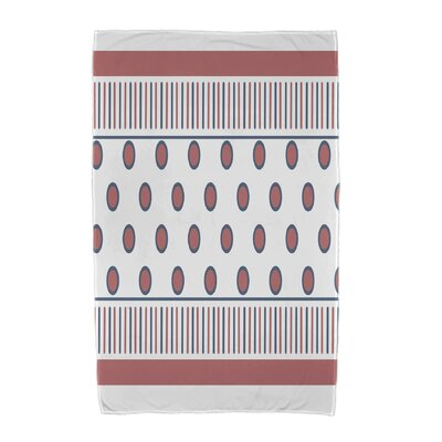 Upscale Getaway Center Stripe Beach Towel Color: Orange