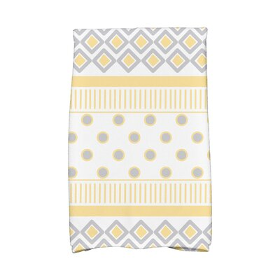 Scrambled Hand Towel Color: Yellow