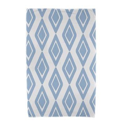 Upscale Getaway Diamond Jive 1 Beach Towel Color: Light Blue