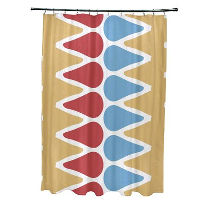 Doretta Picks Shower Curtain Color: Yellow/Red/Light Blue