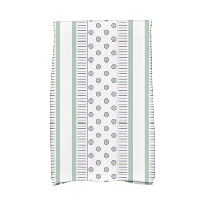 Comb Hand Towel Color: Green/Purple