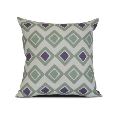 Doretta Contemporary Outdoor Throw Pillow Size: 20 H x 20 W x 3 D, Color: Soft Green