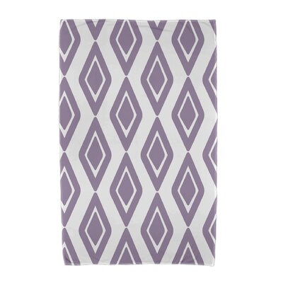Upscale Getaway Diamond Jive 1 Beach Towel Color: Purple
