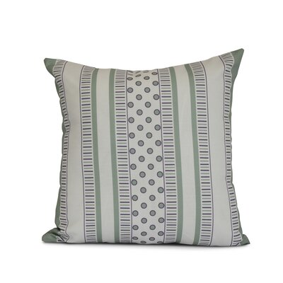 Doretta Modern Geometric Outdoor Throw Pillow Size: 20 H x 20 W x 3 D, Color: Green/Purple