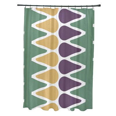 Doretta Picks Shower Curtain Color: Green/Yellow/Purple