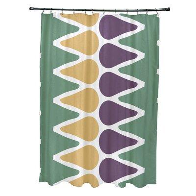 Doretta Picks Shower Curtain Color: Green/Yellow/Purple