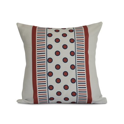 Doretta Outdoor Throw Pillow Size: 20 H x 20 W x 3 D, Color: Orange