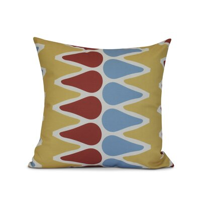 Doretta Modern Outdoor Throw Pillow Size: 20 H x 20 W x 3 D, Color: Yellow/Orange/Light Blue
