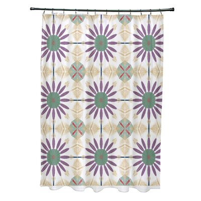 Doretta Shower Curtain Color: Green