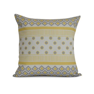 Doretta Square Geometric Outdoor Throw Pillow Size: 20 H x 20 W x 3 D, Color: Yellow