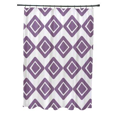 Doretta Diamond Hypoallergenic Shower Curtain Color: Purple