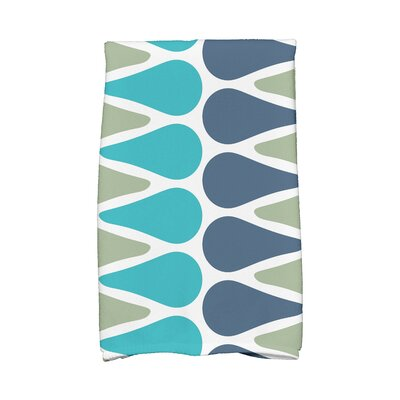 Picks Hand Towel Color: Green/Navy/Aqua