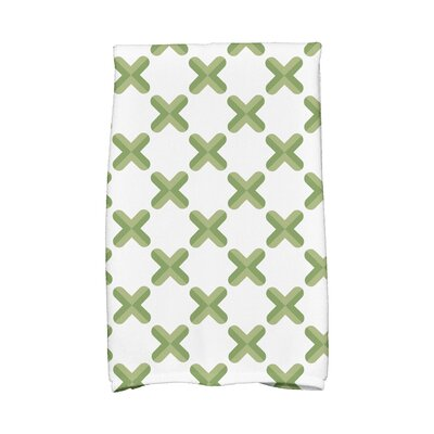 Criss Hand Towel Color: Green