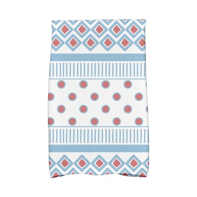 Scrambled Hand Towel Color: Light Blue