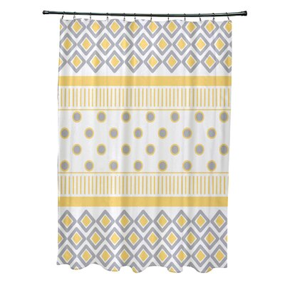 Doretta Scrambled Shower Curtain Color: Yellow