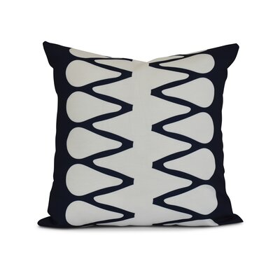 Upscale Getaway Outdoor Throw Pillow Size: 18 H x 18 W x 3 D, Color: Navy Blue