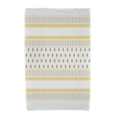 Comb Beach Towel Color: Yellow/Gray