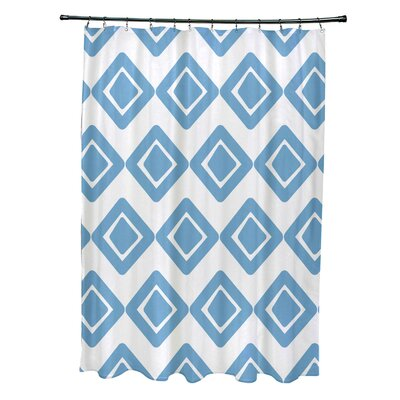 Doretta Diamond Hypoallergenic Shower Curtain Color: Light Blue