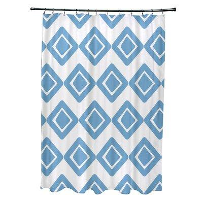 Elaine Diamond Jive 1 Shower Curtain Color: Light Blue
