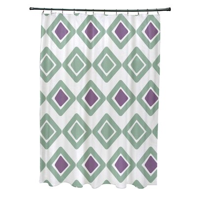 Doretta Diamond Shower Curtain Color: Soft Green