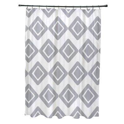 Elaine Diamond Jive 1 Shower Curtain Color: Gray