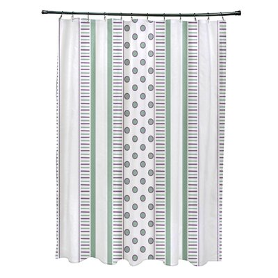 Elaine Comb Shower Curtain Color: Purple