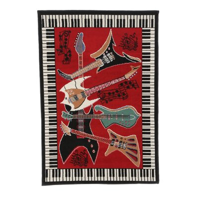 Milton Music Novelty Rust Area Rug Rug Size: 37 x 52