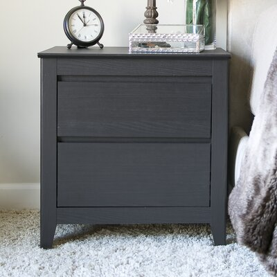 Dringenberg Espresso 2 Drawer Nightstand