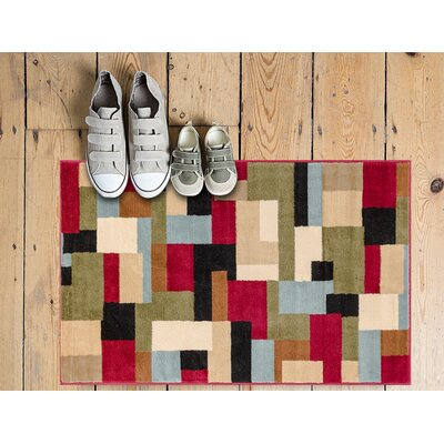Freeman River Red Area Rug Rug Size: 93 x 126